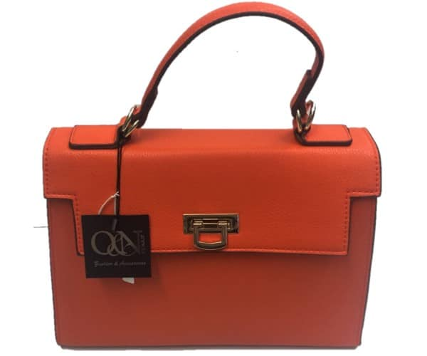 Borsa in ecopelle arancione Old & New