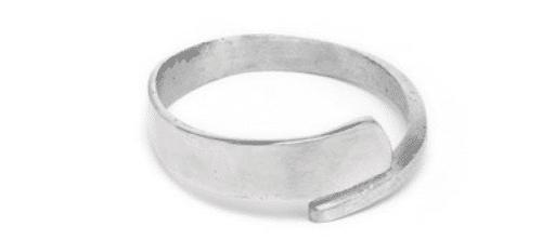 Bracciale 1cm Incrociato alluminio - Vestopazzo cod.Al00106