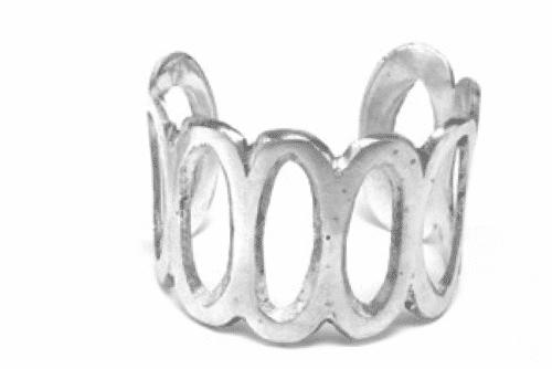 Bracciale Fascia Aperta Rigido 5 cm Ovali Vestopazzo cod.AL00126
